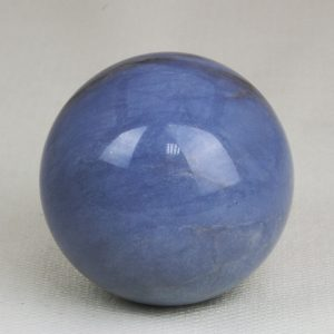 Highly polished and perfectly round sphere made from Angelite with 53 mm diameter