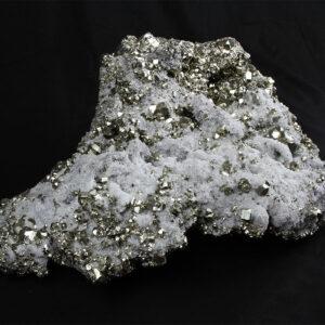 21 kilo exeptional quartz-pyrite crystal cluster from Huanzala Peru