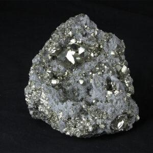 Big top-quality quartz Pyrite cluster from Huanzala Peru