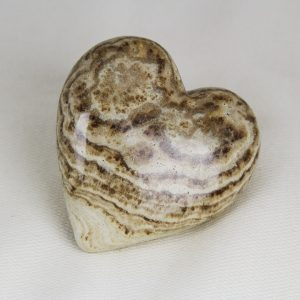 Beautiful hand-made aragonite heart with perfect shape and superior polish