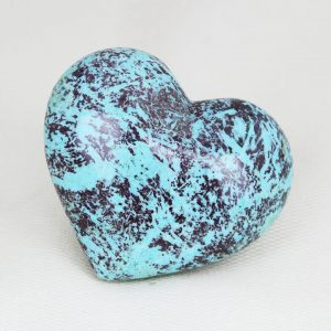 """Beautiful chrysocolla heart """"turquoise"""" with perfect shape and superior polish"""