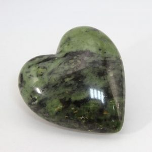 Beautiful heart with perfect shape and superior polish hand-made from peruvian green jade (nephrite)