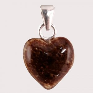 Aragonite heart shaped pendant with sterling silver ring JD-001-ARG-003