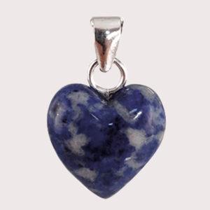 LAPISLAZULI heart shaped pendant with sterling silver ring JD-001-LAP-001