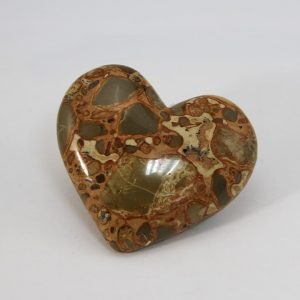 Beautiful hand-made leopardite heart with perfect shape and superior polish