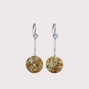 orbit earrings with sterling silver chain ARAGONITE JA-002-ARG-001