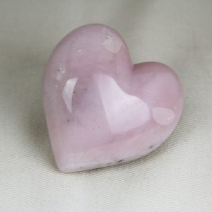Beautiful hand-made pink opal heart with perfect shape and superior polish