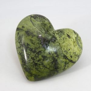 Beautiful hand-made serpentinite heart with perfect shape and superior polish