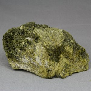 Epidote crystal cluster, with fan-shaped crystals, from Lima department in Peru, cabinet size