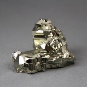 Beautiful small-cabinet-size pyrite cluster from Huanzala mine in Peru
