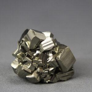 Beautiful miniature-size pyrite cluster from Huanzala mine in Peru