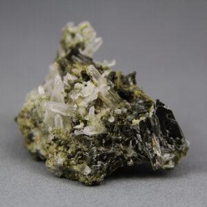 Epidote & quartz crystal cluster Trujillo