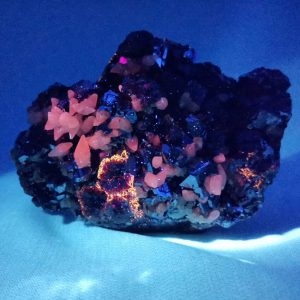 Galena with calcite crystal cluster large cabinet specimen