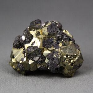 Galena and Pyrite crystal cluster from Huanzala Mine, Peru