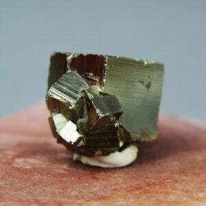 Pyrite crystal cluster from Huanzala mine in Peru