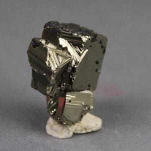 Pyrite crystal cluster with Sphalerite (Var. Marmatite) from Huanzala mine in Peru